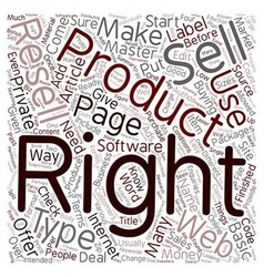 How To Make Money With Resell Rights text vector image