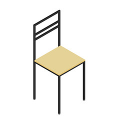 isometric wooden chair vector image