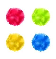 set abstract watercolor splash colorful paint vector image