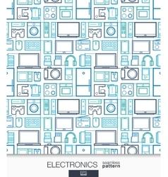 Home Electronics wallpaper Digital shop seamless vector image