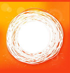 sketched sunny orange abstract label vector image vector image