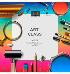 Art class template creativity concept vector image