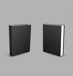 black closed books gray background vector image vector image