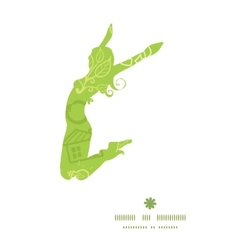 Environmental jumping girl silhouette vector