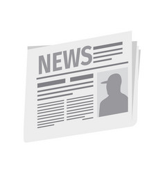fresh newspaper isolated on white background vector image