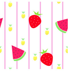 seamless tileable texture with fruits vector image