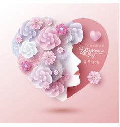 8 march international womens day concept design vector image