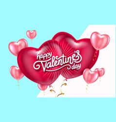 balloon hearts holiday vector image