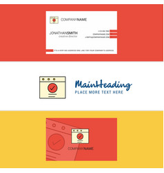 beautiful ok logo and business card vertical vector image