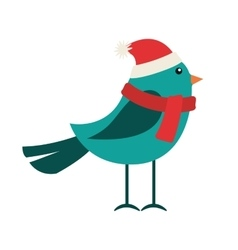 Bird clothes winter icon vector