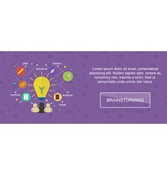 Brainstorming ideas banner vector