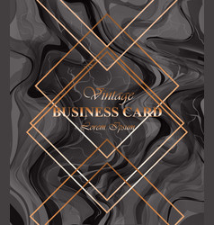 business card background dark color golden vector image