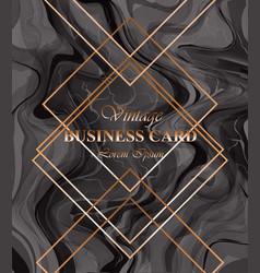 business card background dark color golden vector image