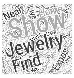 Buy jewelry wholesale at jewelry shows and expos vector