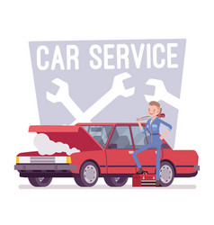 car service center vector image