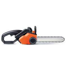 Chainsaw isolated on white 3d vector