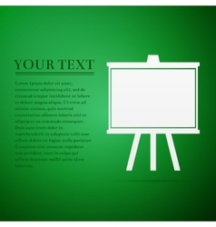 Chalkboards flat icon on green background vector