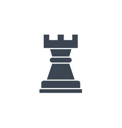 Chess rook related glyph icon vector