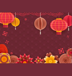 chinese traditional style holiday frame template vector image