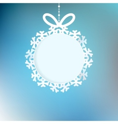 Christmas background with snowflakes EPS 10 vector
