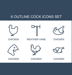 Cock icons vector