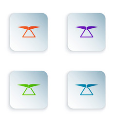 Color hang glider icon isolated on white vector