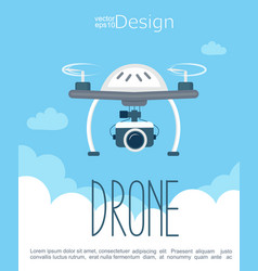 concept flying drone with camera vector image