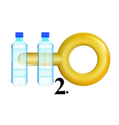 concept icon clean water will be worth its weight vector image