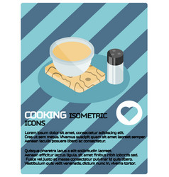 cooking color isometric poster vector image