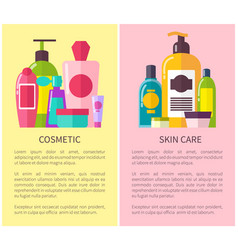 Cosmetic skin care many vials vector