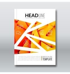 Cover report colorful orange yellow triangle vector