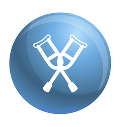 Crutches icon outline style vector