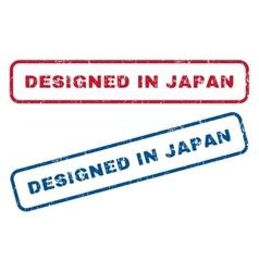 Designed In Japan Rubber Stamps vector
