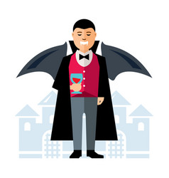 Dracula halloween flat style colorful vector
