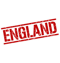 england red square stamp vector image