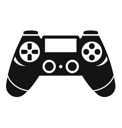 entertainment gamepad icon simple style vector image