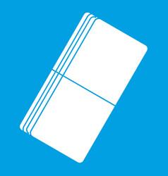 Eraser icon white vector