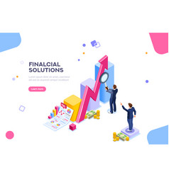 Financial research concept vector