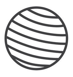 fitness rubber ball line icon fitness and sport vector image