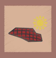 flat shading style icon solar panels vector image