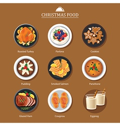 Food for festival christmas and thanksgiving vector