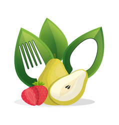 Fruit vegan food fresh vector