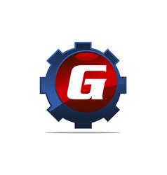 Gear logo letter g vector
