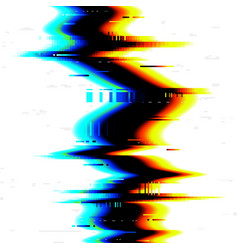 Glitch digital tv effect noise vhs on screen vector