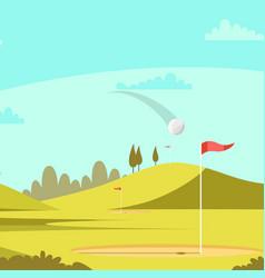 golf court vector image