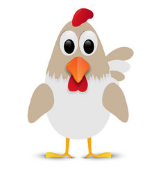 Hen isolated on white background vector