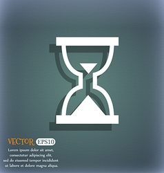 Hourglass Sand timer icon symbol on the blue-green vector