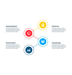 infographic with 4 circle elements can be used for vector image