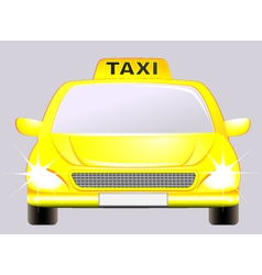 isolated car with taxi sign vector image