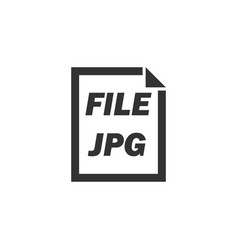 jpg file icon flat vector image